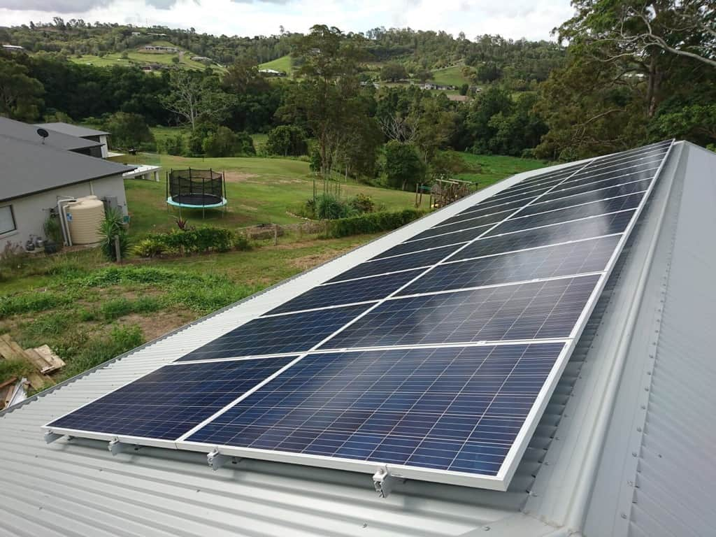 Solar panels of installation