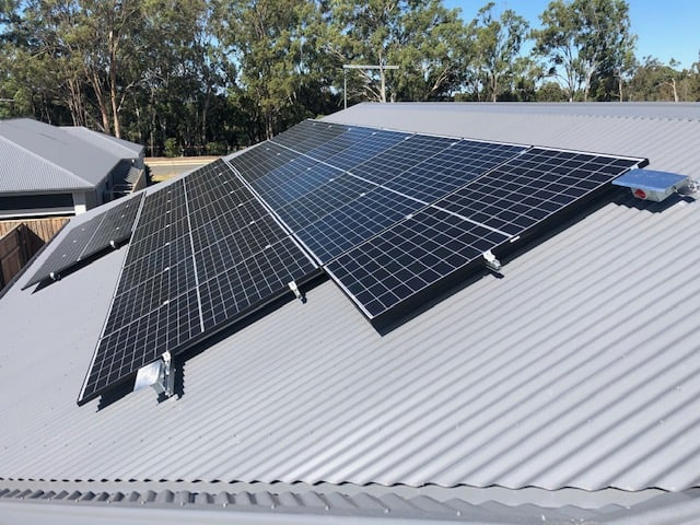 Solar Installation Black Frame