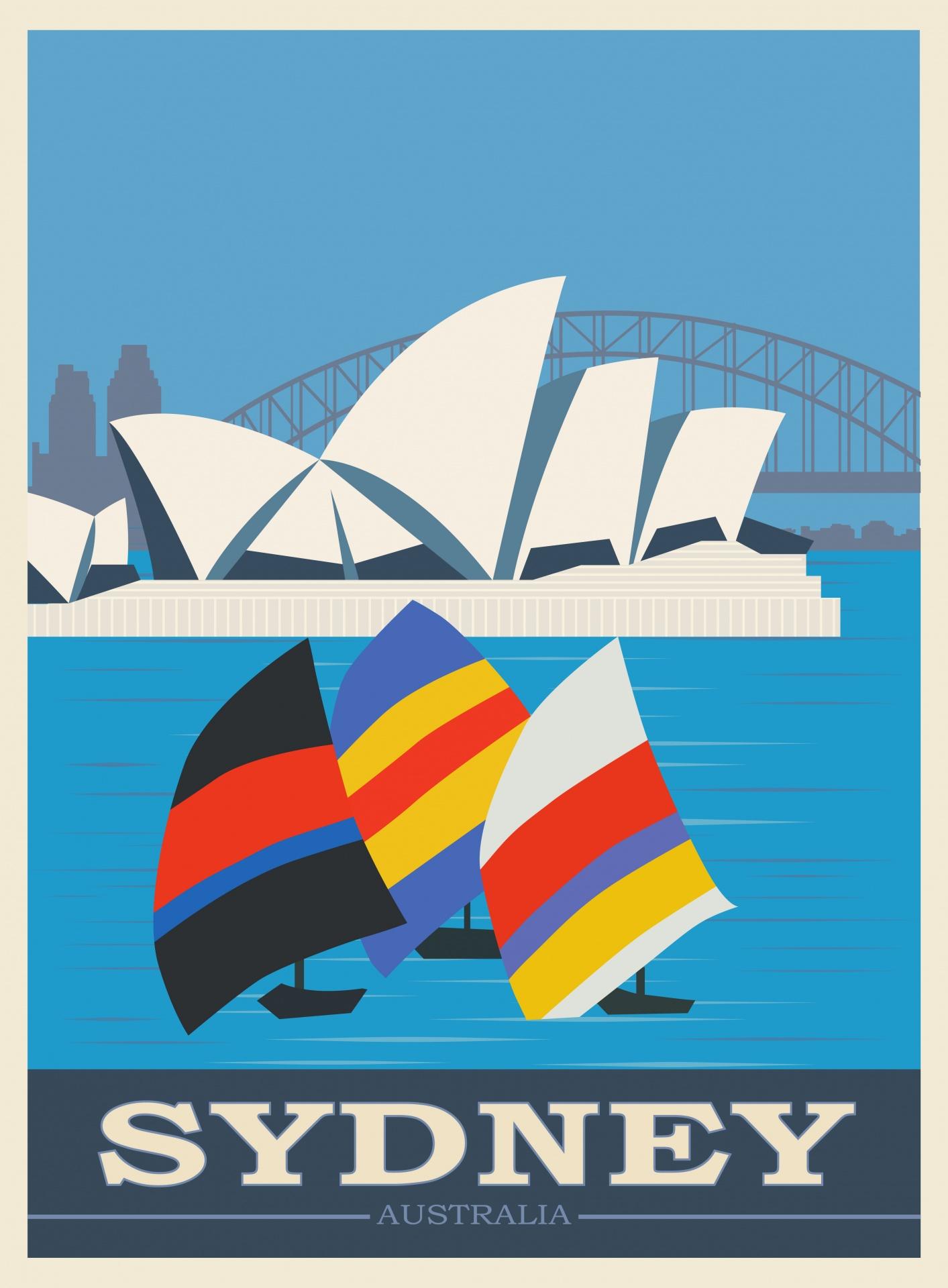 sydney australia travel poster